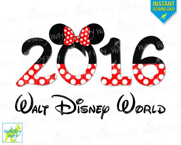 2016 Walt Disney World Minnie Head Printable Iron On Transfer or.
