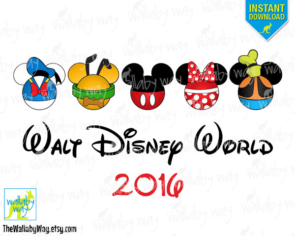 Walt Disney World Printable Iron On Transfer or Use as Clip Art.