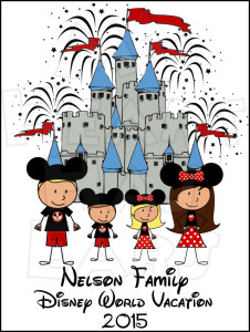 CHOOSE YOUR CHARACTERS Disney World Castle Vacation family digital.
