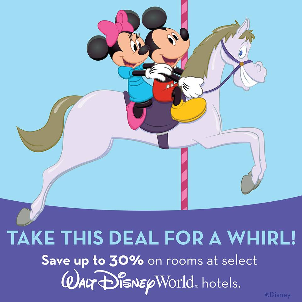 Save up to 30% at Walt Disney World this Spring.