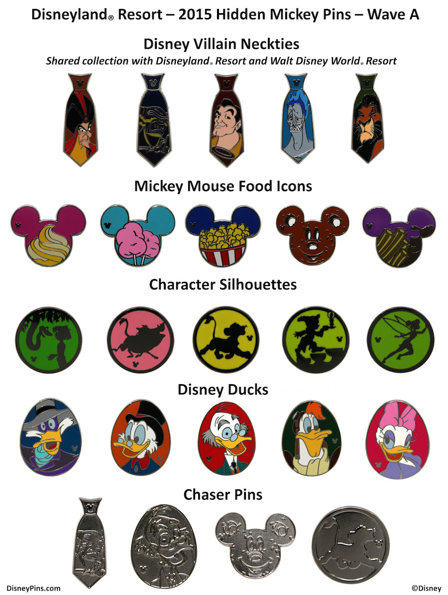 New Hidden Mickey Pins Coming to Disney Parks in April 2015.