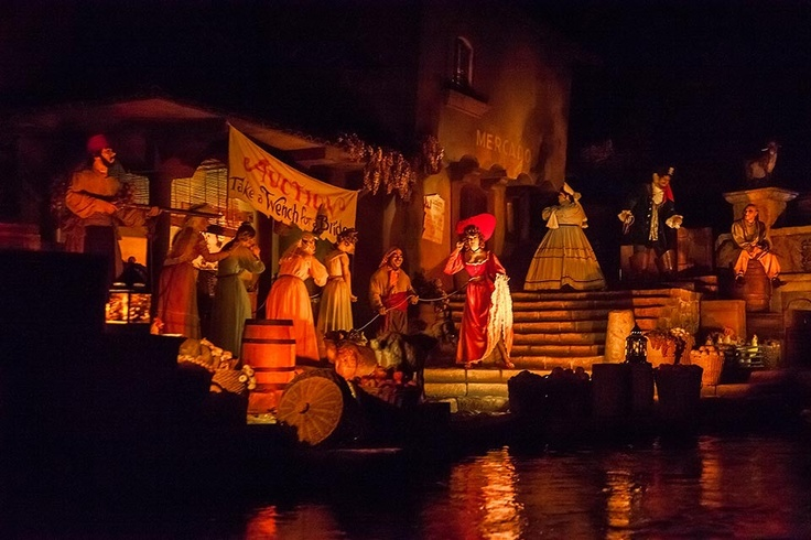 Pirates of the Caribbean ride at Disney World. My favorite part.