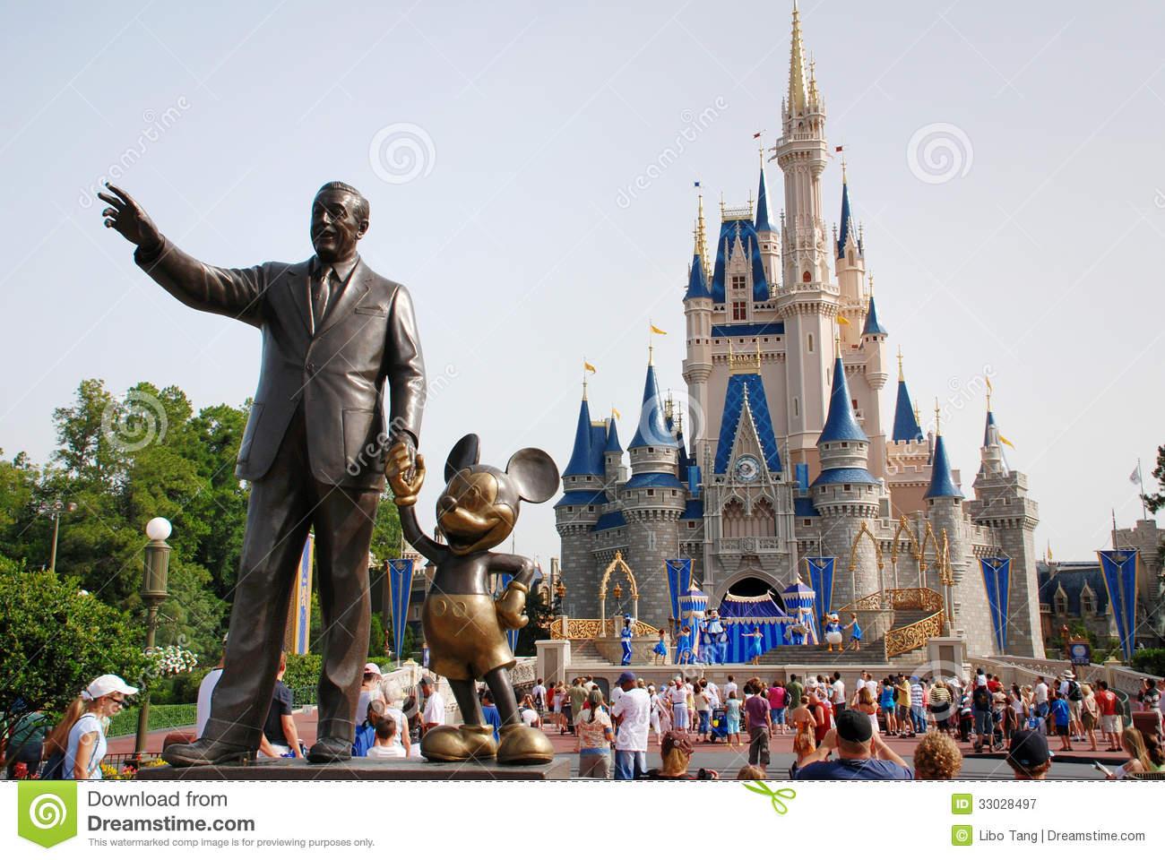 Cinderella Disney Castle In Magic Kingdom Disney World Orlando.
