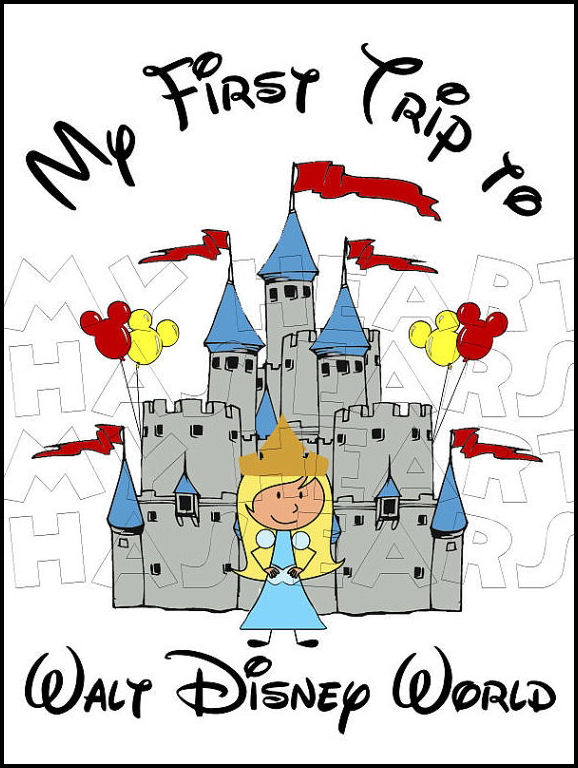 Disney World Magic Kingdom Clipart.