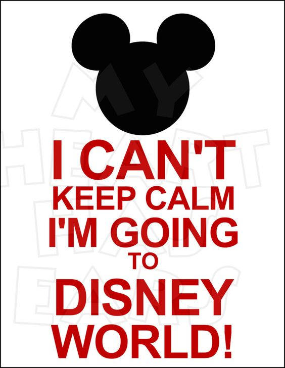 I can't Keep calm I'm going to Disney World INSTANT DOWNLOAD.
