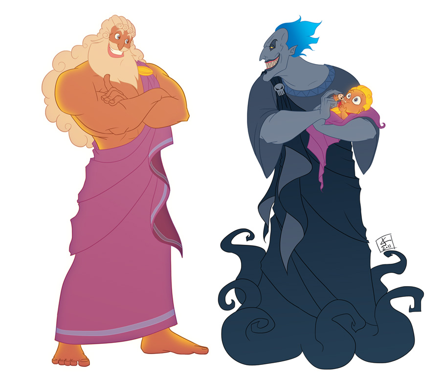 Zeus and Hades by *khaamar on deviantART.