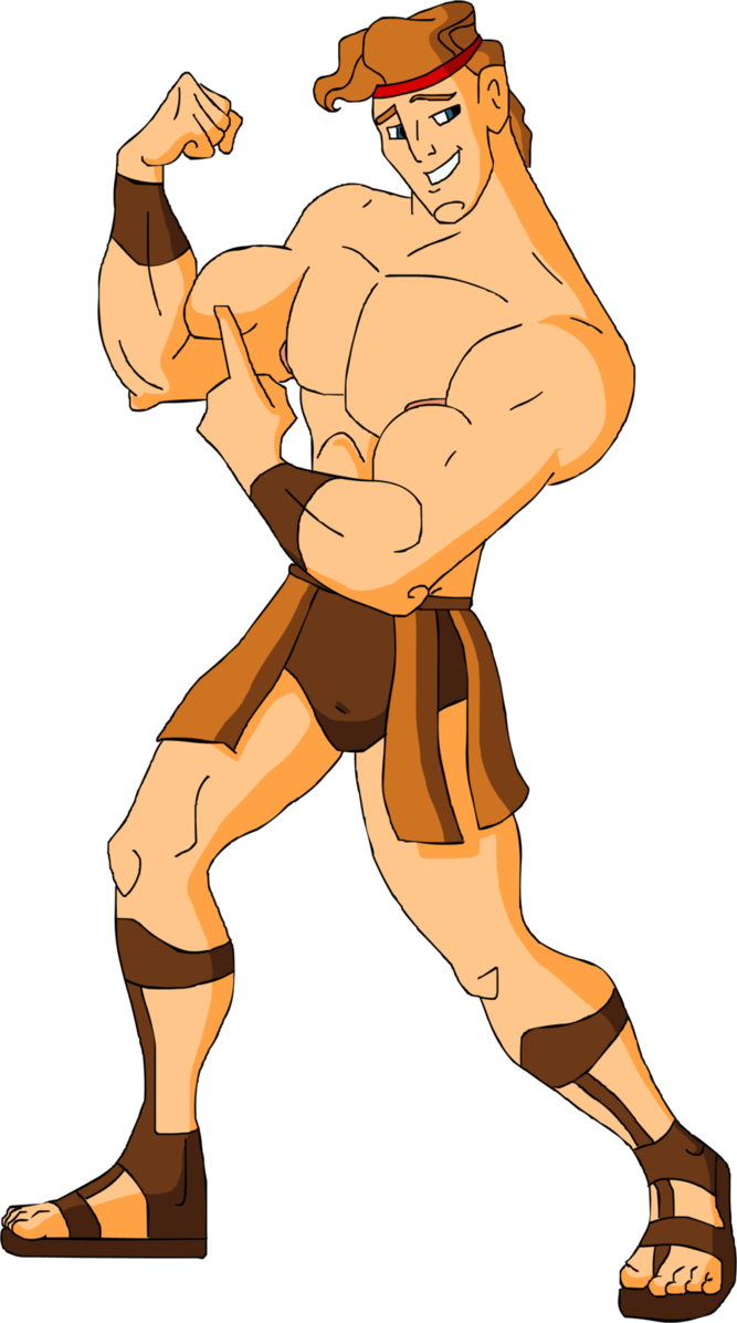 Shirtless Muscular Hercules by hercules4disney.
