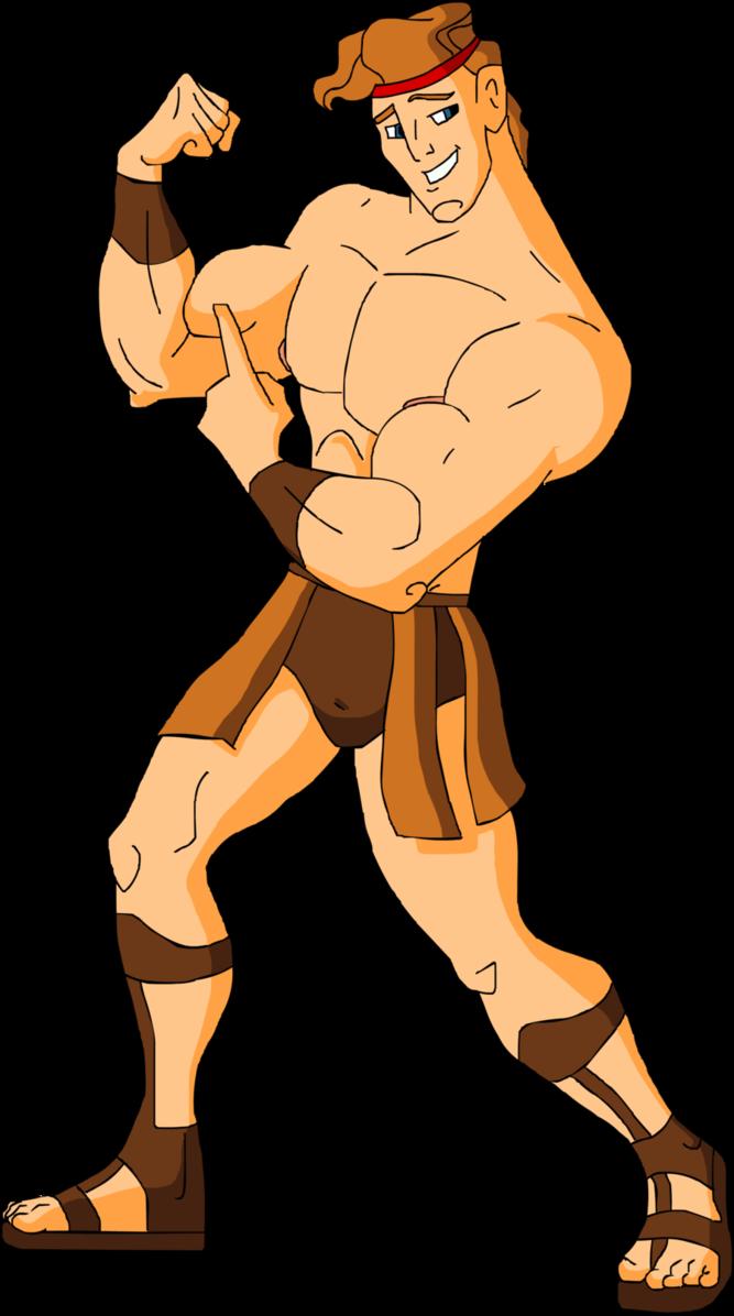 Shirtless Muscular Hercules by hercules4disney.