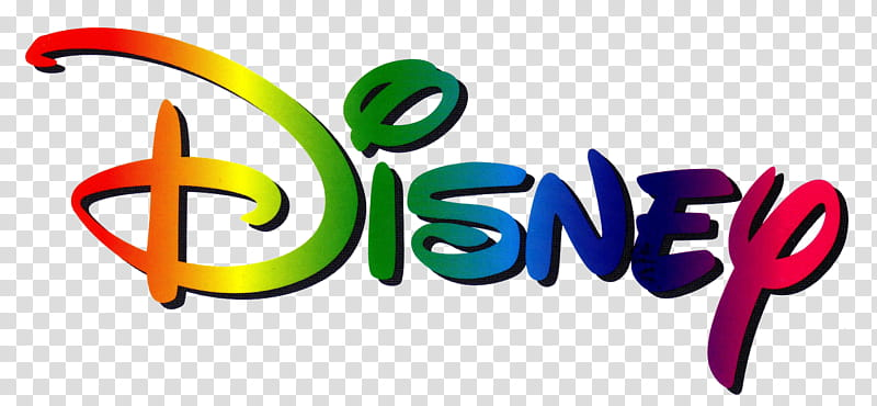 DISNEY LOGO MULTICOLOR, Disney logo transparent background.