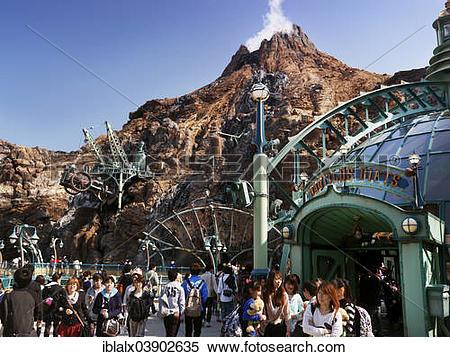 "Stock Image of ""Visitors, Mysterious Island, Tokyo DisneySea."