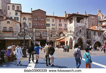 "Stock Photograph of ""Theme park entrance, Venetian style."