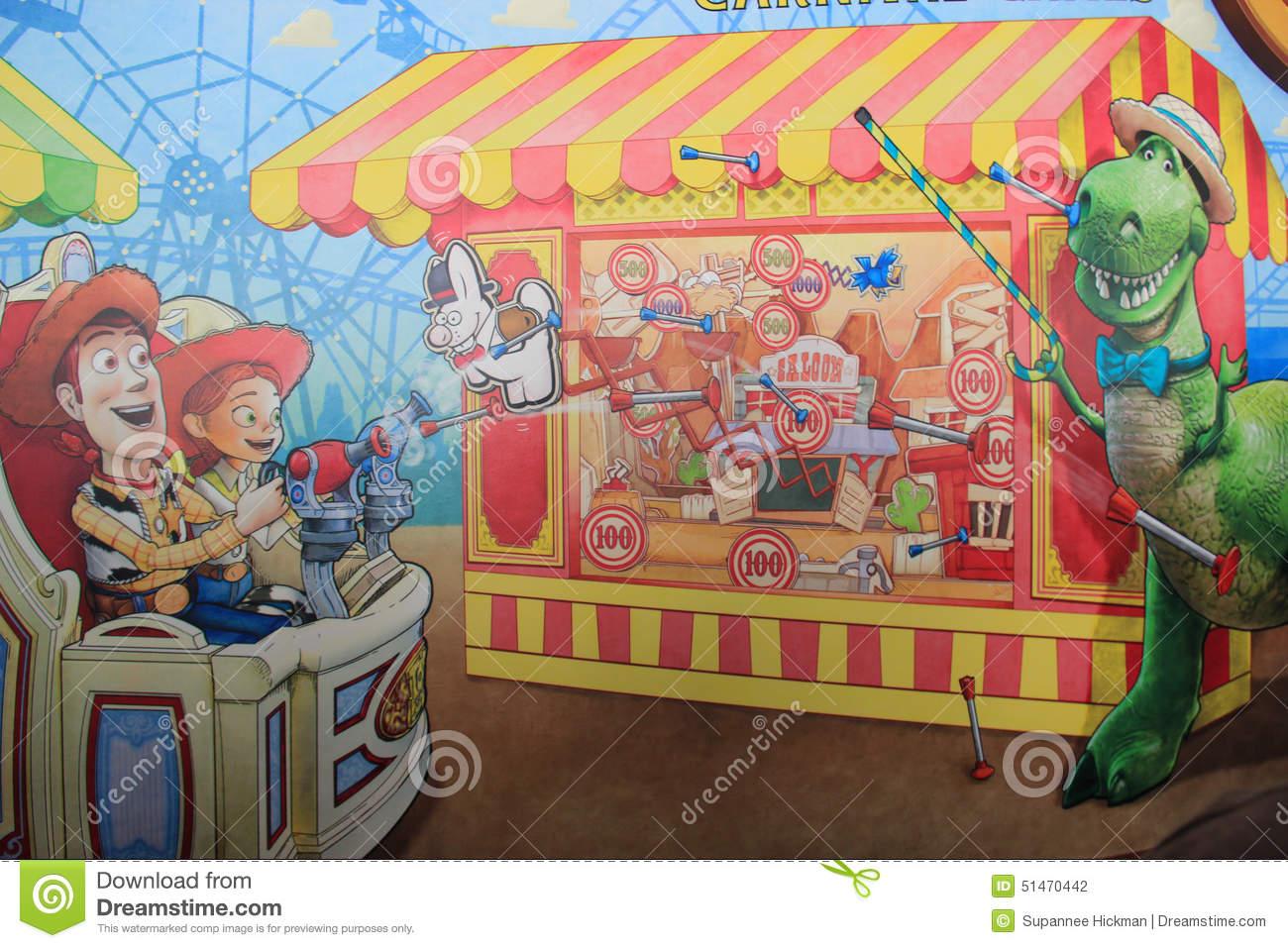 Toy Story Mania At Tokyo DisneySea Editorial Photography.