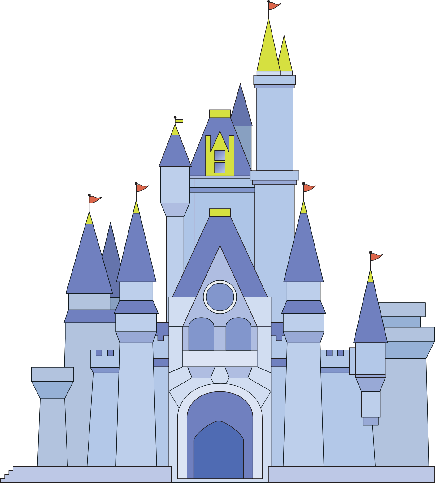 Magic Kingdom Castle Clipart.