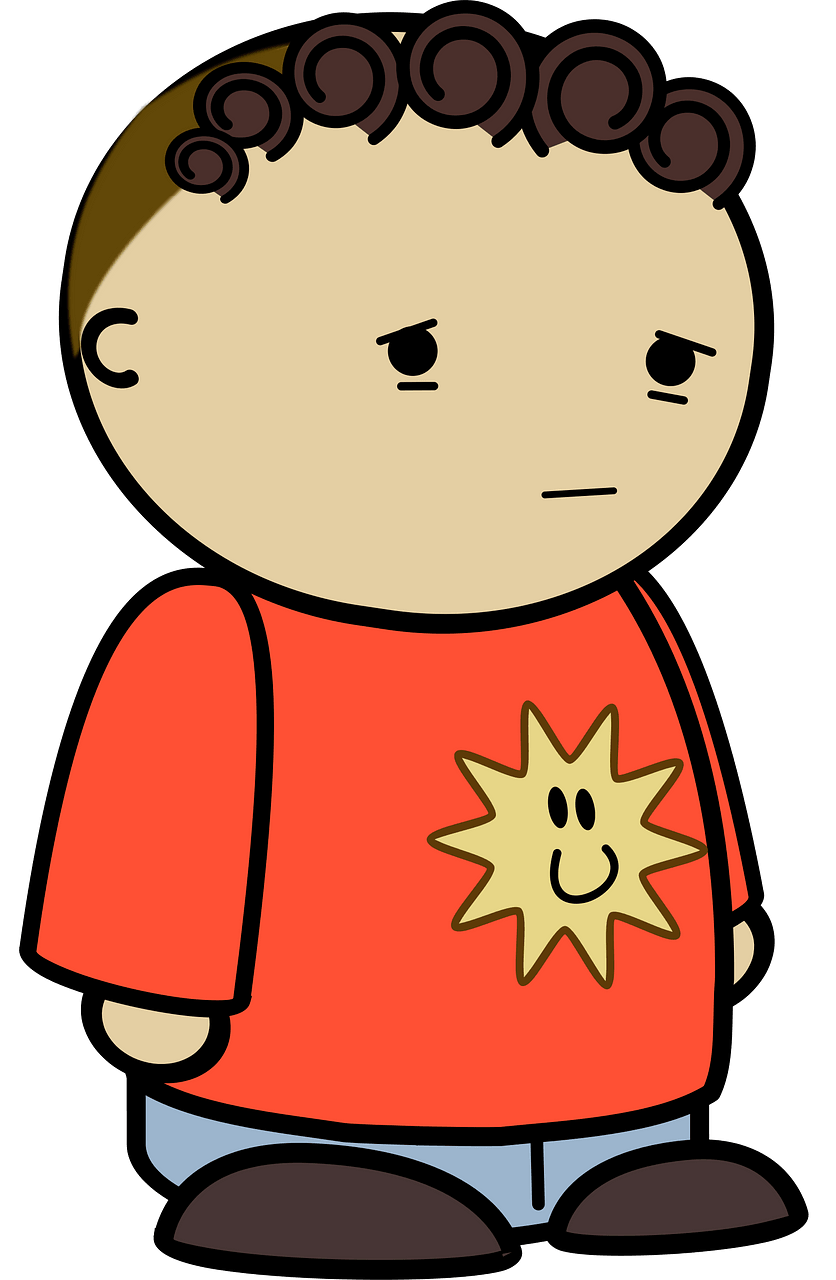 Disappointed kid clipart. Free download..