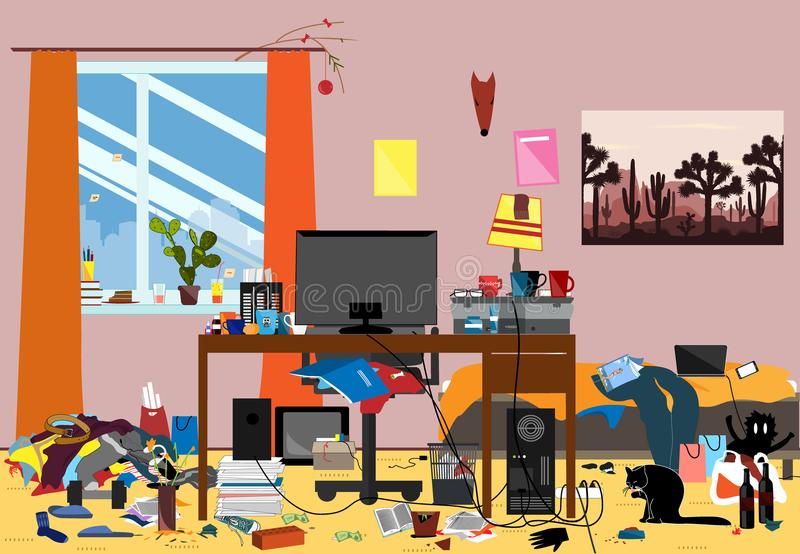 Disorganized Stock Illustrations.