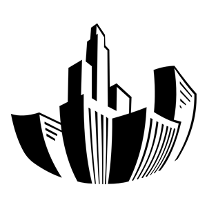 Distorted Buildings Icon clipart, cliparts of Distorted.