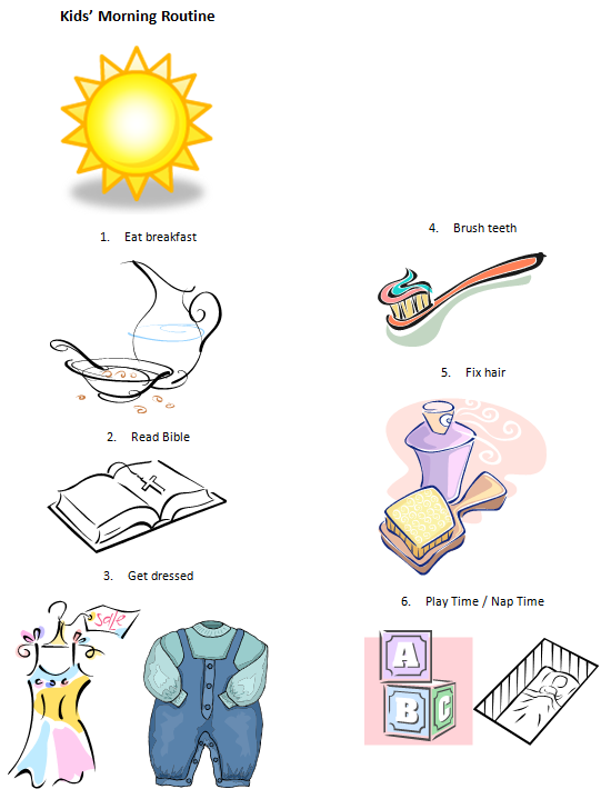 Visual Routines And Schedule For Preschoolers The Disparate.