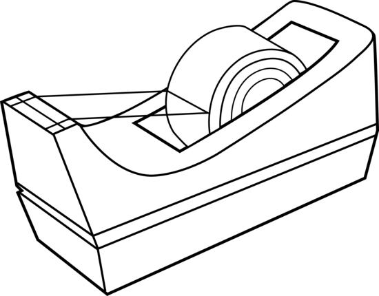 Tape Dispenser Line Art.