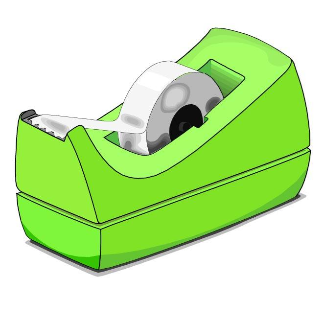 DESK TAPE DISPENSER VECTOR IMAGE.