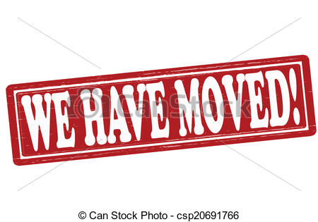 Clip Art Vector of We have moved.