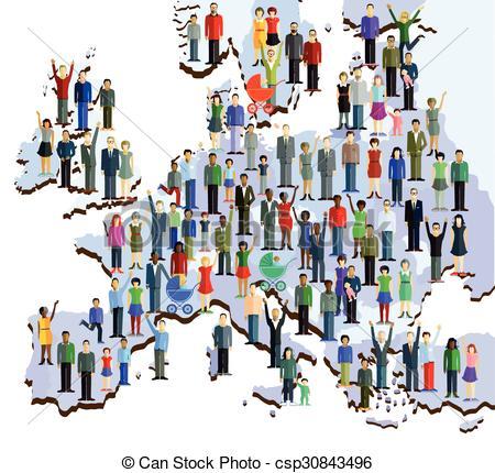 EPS Vectors of Europa Menschen Landkarten.eps.