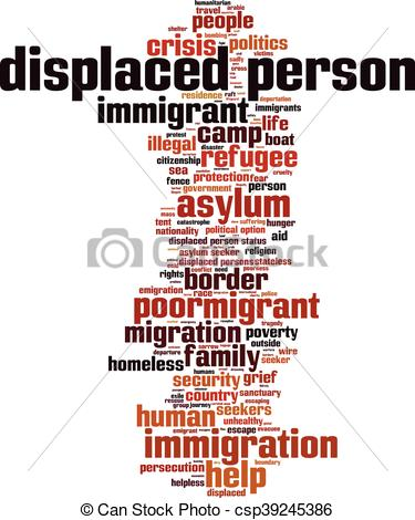 Vector of Displaced person.