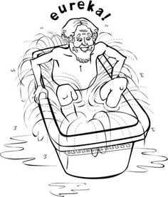Water displacement notes clipart.