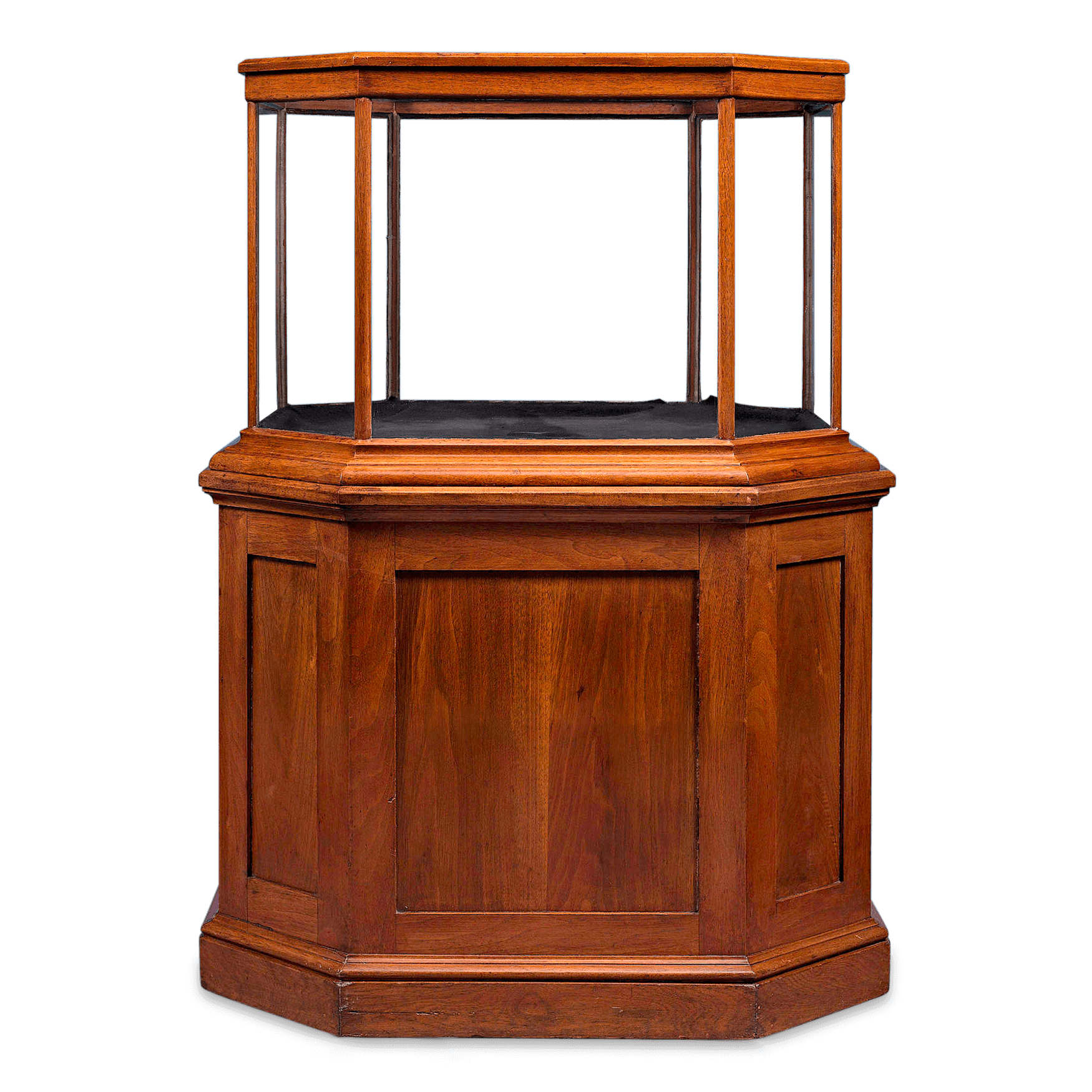 Octagonal Cane Display Case.