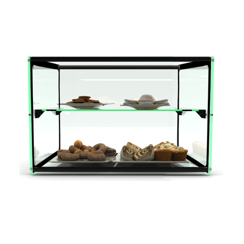 Glass Non Refrigerated Rectangular Display Cabinet EP10D.
