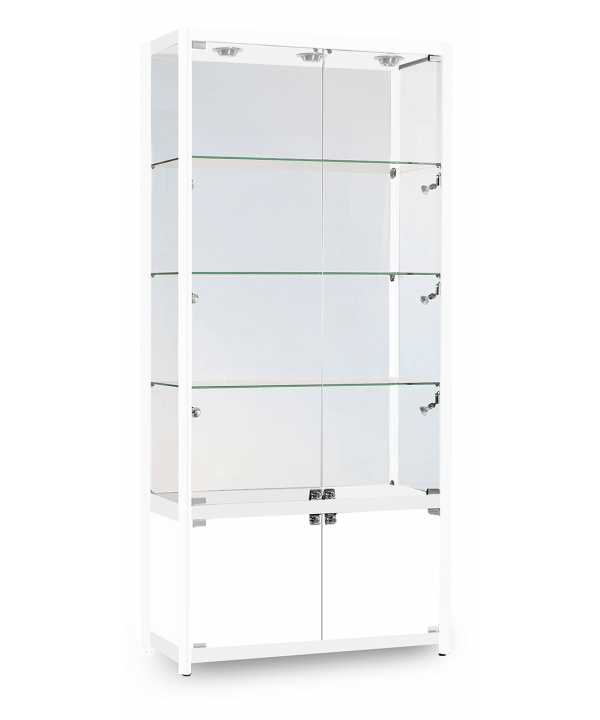 800mm Aluminium Storage Glass Display Cabinet.