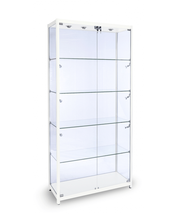 1200mm Aluminium Glass Display Cabinets.