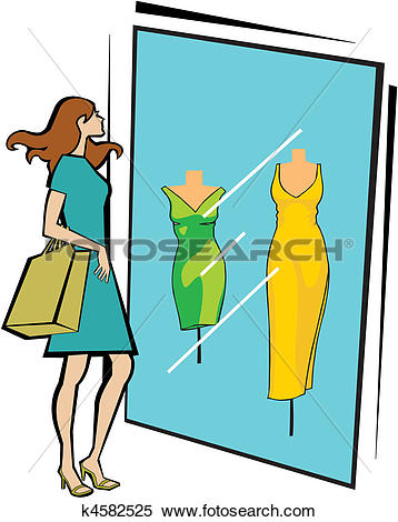 Stock Illustration of window display k4582525.