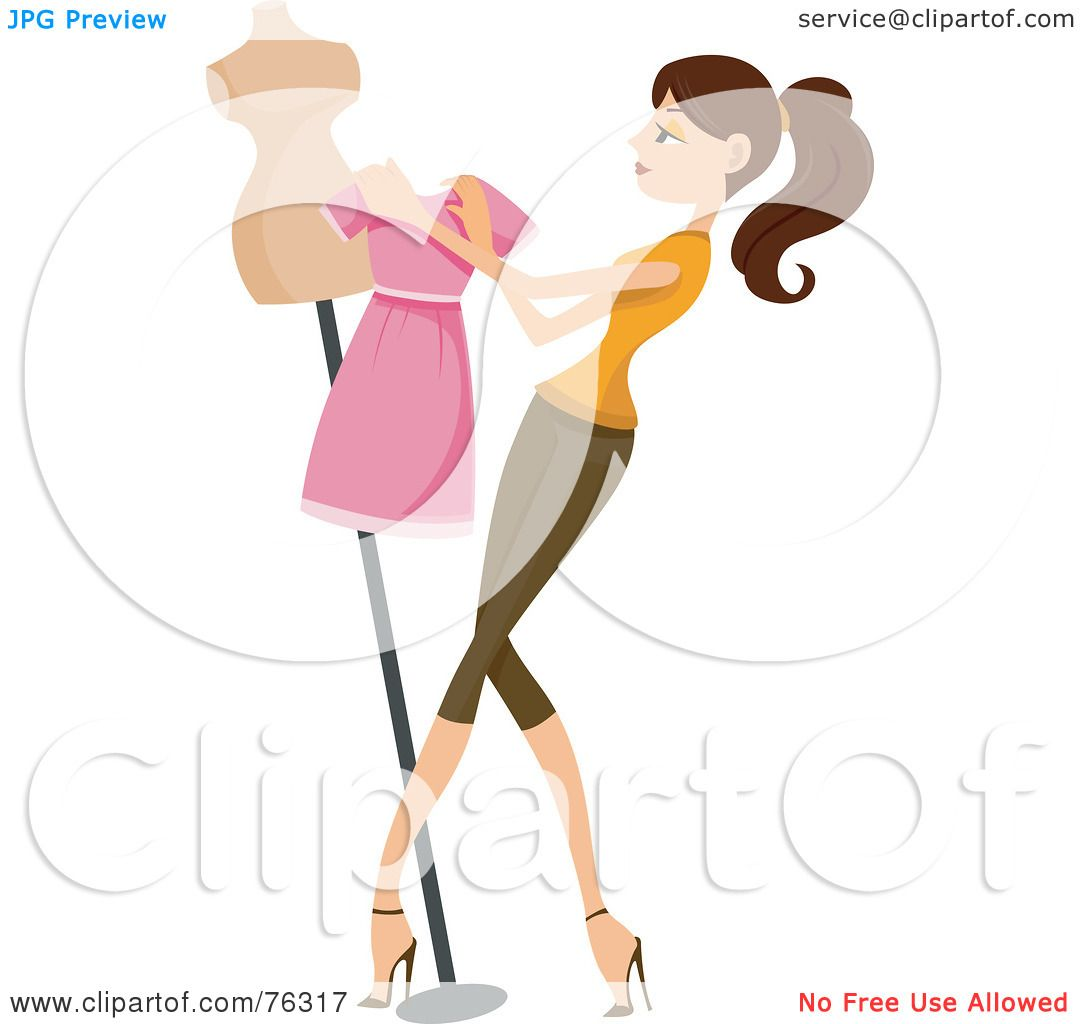 Display Mannequins Clip Art.