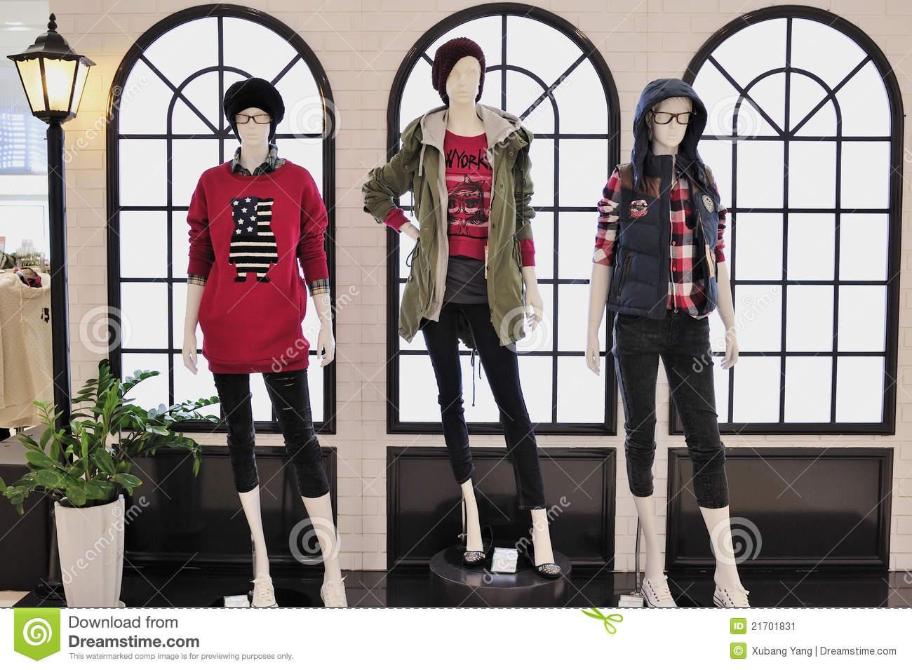 Fashion Mannequin Display Editorial Photo.