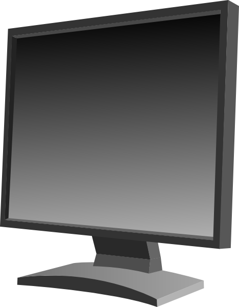 Lcd Flat Panel Monitor Clip Art at Clker.com.
