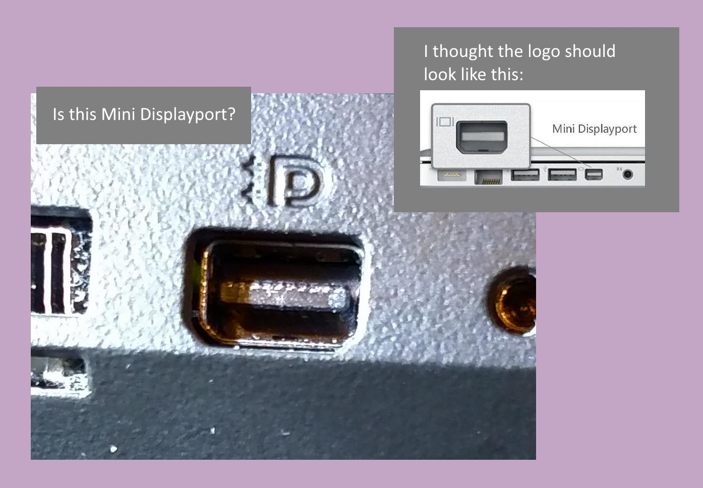What port is this? Is this mini displayport?.