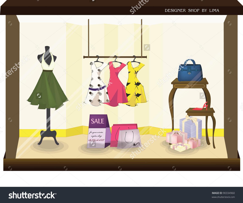 Stylish Fashion Display Sale Products Beautiful Stock Vector.