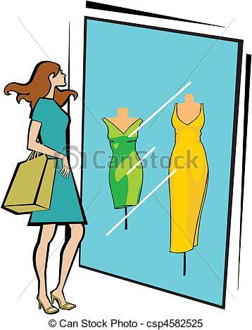 Stock Illustration of window display.