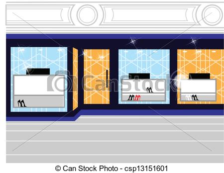 Window display in store Clipart and Stock Illustrations. 276.