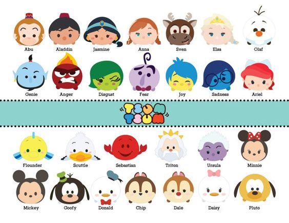 65 TSUM TSUM DISNEY CHARACTER DIGITAL FILES This listing is for 65.