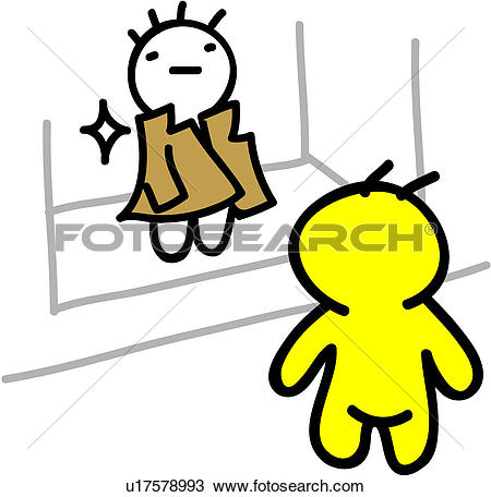 Clipart of looking, displayed, back view, mannequin, trench coat.