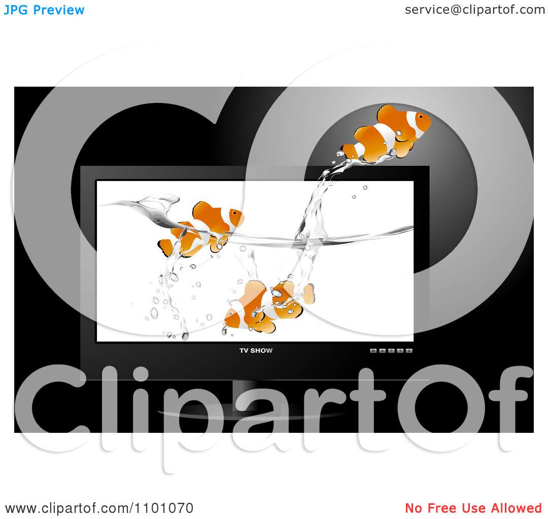 Clipart Clownfish Swimming And Jumping In Water Displayed On A.