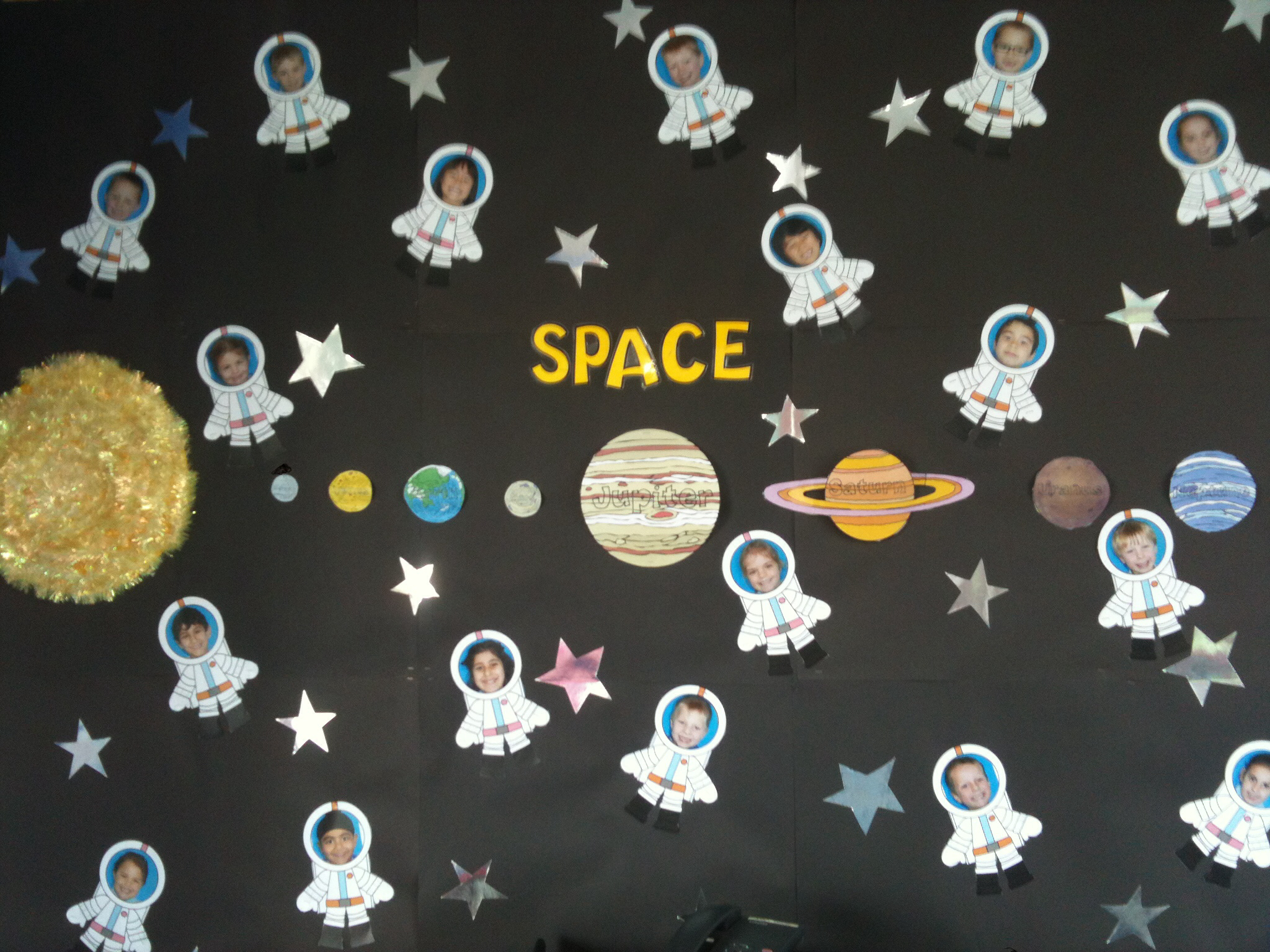 My space themed classroom display.