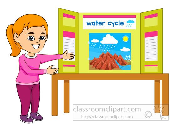 Classroom art display clipart.
