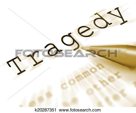 Clipart of Tragedy Word Displays Disaster Misfortune Or Blow.