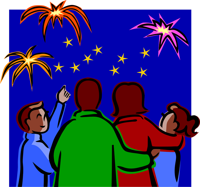 Fireworks display clipart.