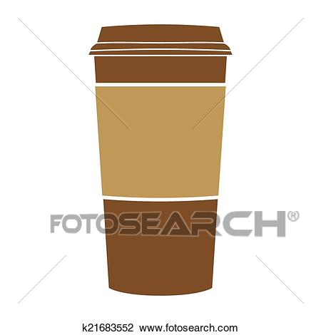 Paper coffee cup vector Clipart.