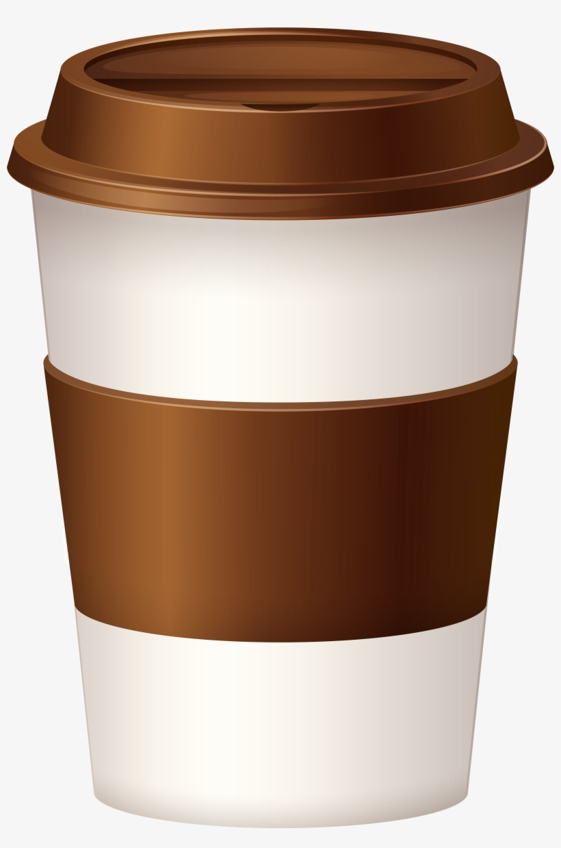 Paper Coffee Cup Clipart PNG Image.