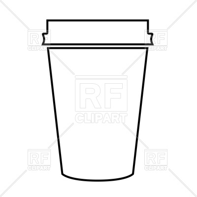 Outline of paper coffee cup Vector Image.