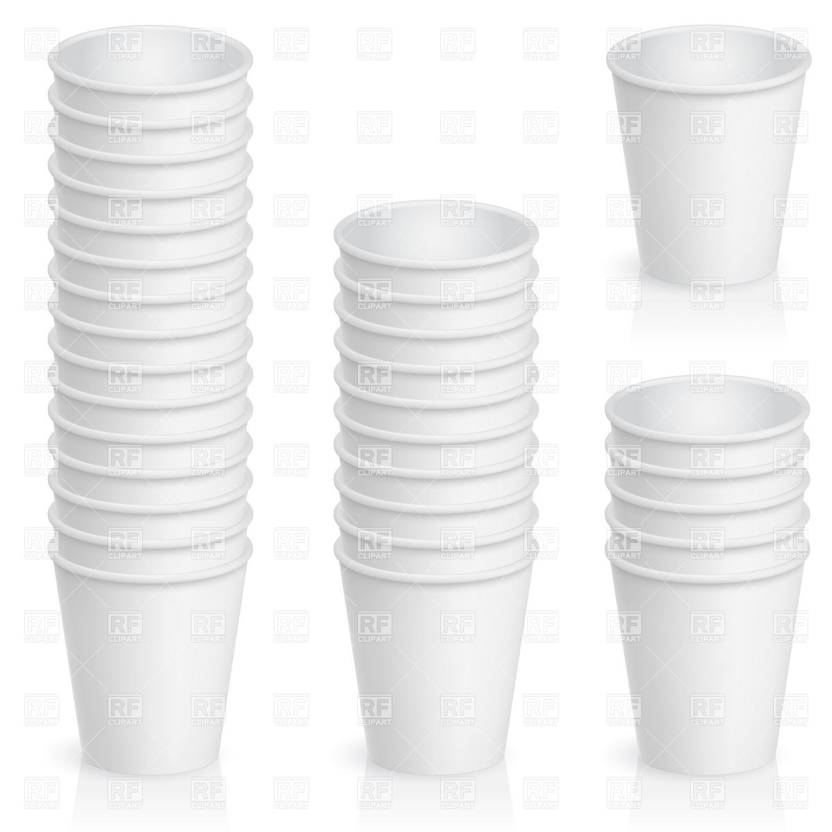 Sets of empty paper cups Vector Image #8417.